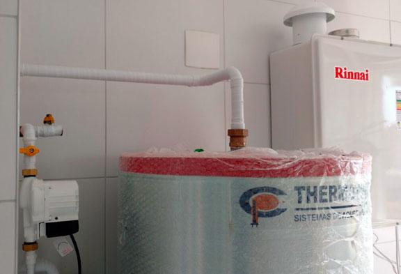 central térmica sistema de aquecimento de água